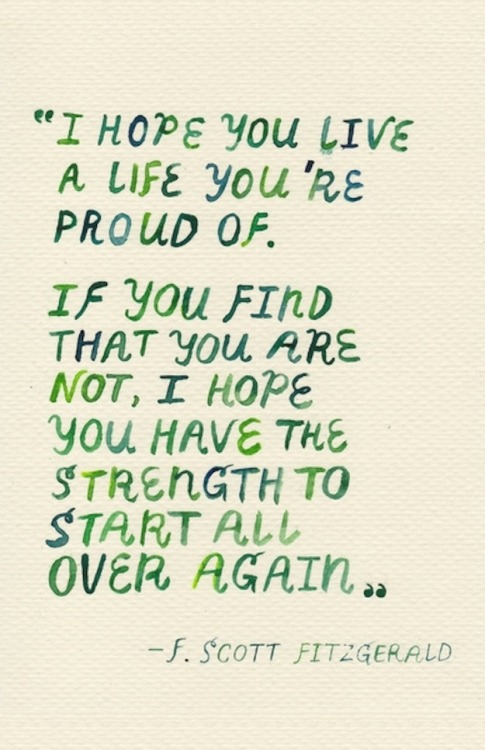Tuesday inspiration from F. Scott Fitzgerald