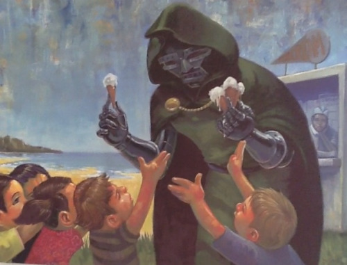 dr doom handing out ice cream