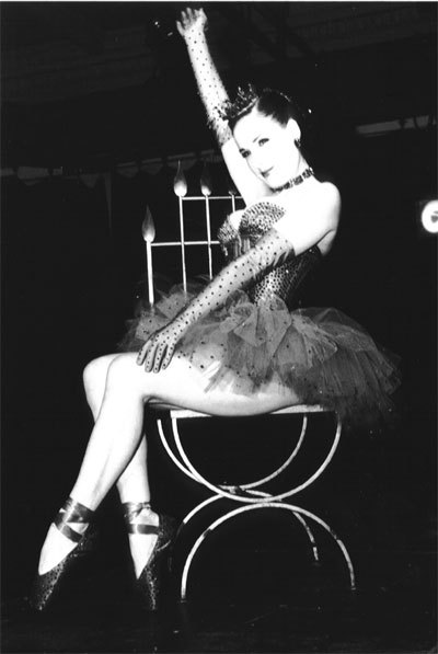 Dita Von Teese performs at Rubberball 2001