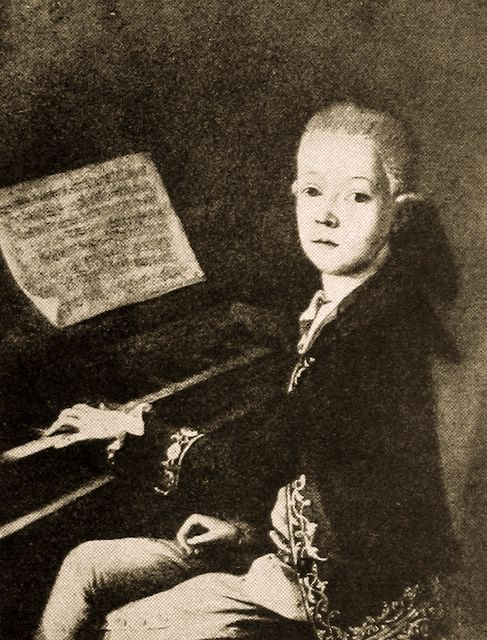 When he was eight, Mozart was tested by a member of the Royal Society to establish (among other things) whether he was in fact a child, as opposed to a dwarf. The tester, Daines Barrington, was eventually convinced when Mozart, in the middle of playing a piece, was distracted by a cat that ran through the room.