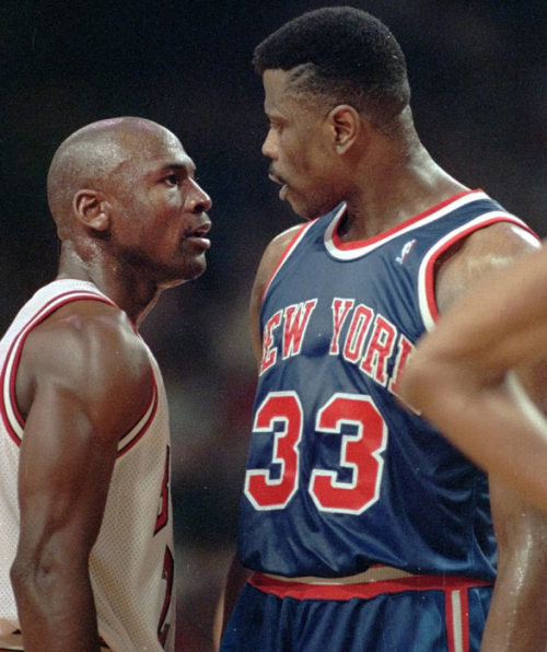 Patrick Ewing works for Michael Jordan and the Charlotte Bobcats.