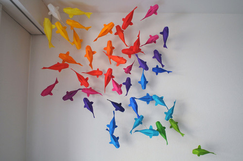 KOI INSTALLATION Designed and folded by Sipho MabonaFind her on Etsy