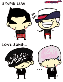 [FANART] GD&TOP @ SBS Inkigayo 110410<br /><br /><br /><br /><br /> LOL x)
