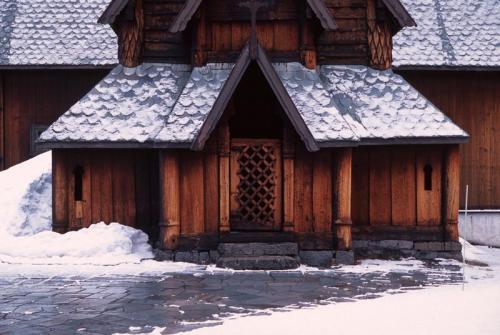 Door detail from Hededalen stave church, Valdres, Norway