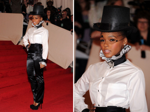 bohemea:</p> <p>Janelle Monae - MET Costume Gala, May 2nd 2011<br /> How is it possible to not love an event that encourages top hats? Fantastic!<br />