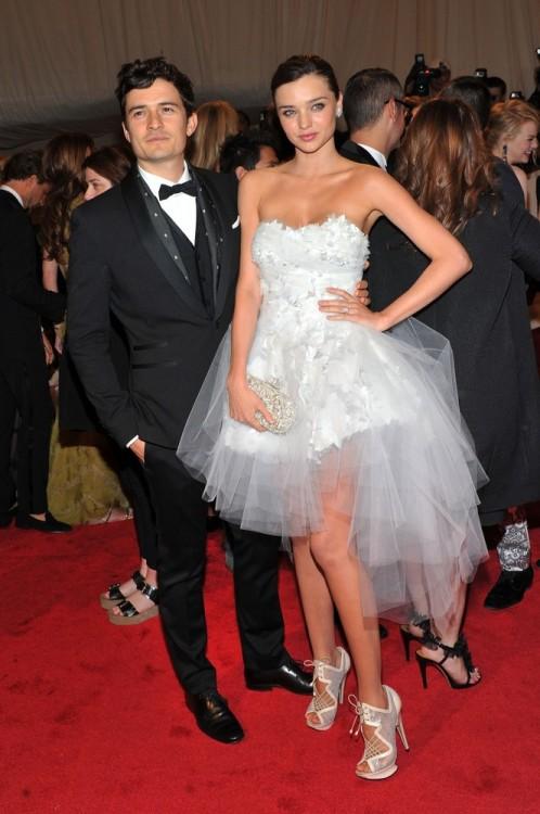 bohemea:</p> <p>Orlando Bloom & Miranda Kerr - MET Costume Gala, May 2nd 2011<br /> Miranda looks darling! Like a perfect combination of a ballerina, bride & dolly!<br />