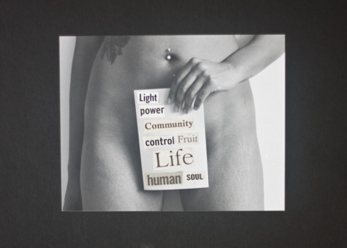 Light Power Control Life Human Soul on a card in front of a woman's pussy