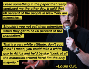 louis c k talks about minorities in new york
