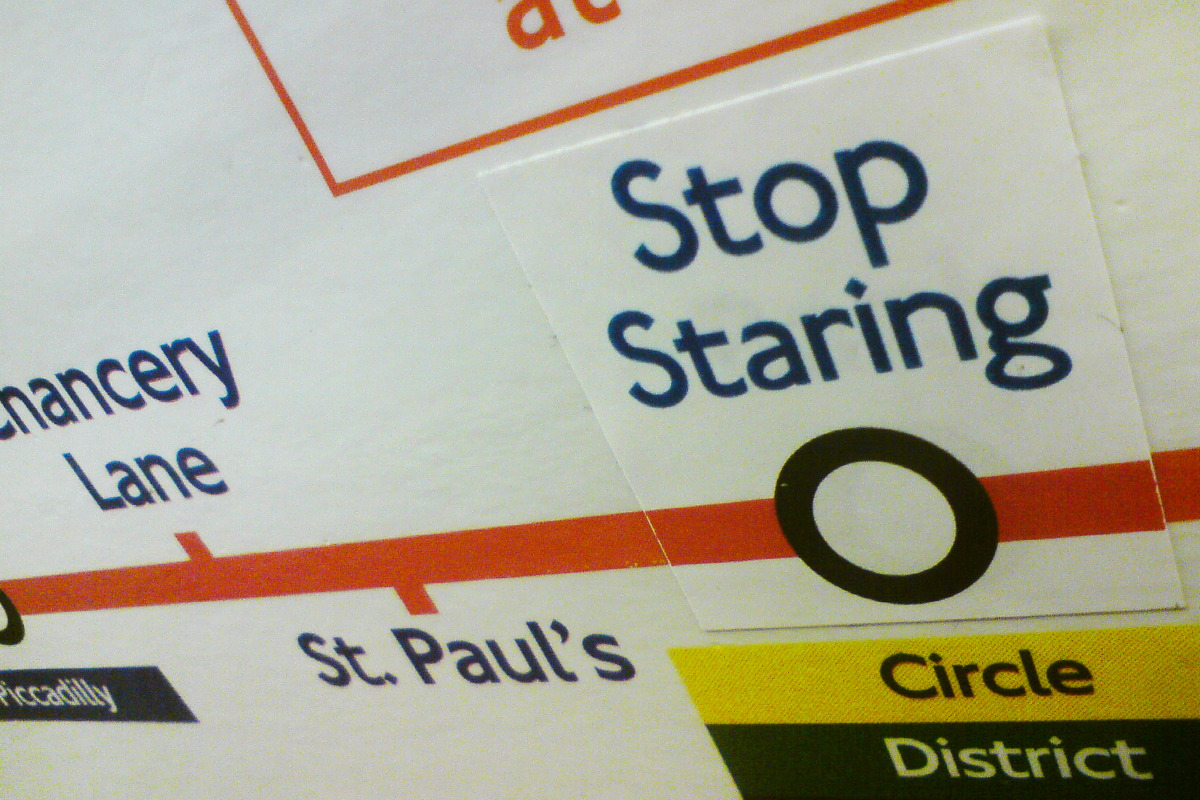 Tube maps aresurprisinglyshy. While it's nice to feel appreciated, few want tourists gawping at them all day.