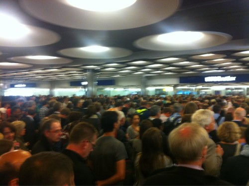 All too frequent hour-long queues at passport control