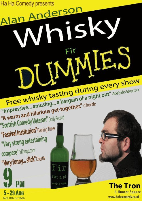 Whisky Fir Dummies Edinburgh Fringe Whisky Tasting Show