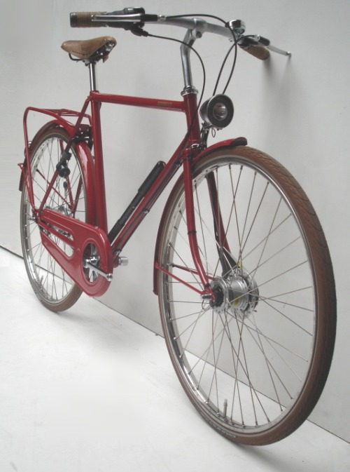 achielle: Miel in intens red with all the extra's: 8 speed, hubdynamo, brown tires,…