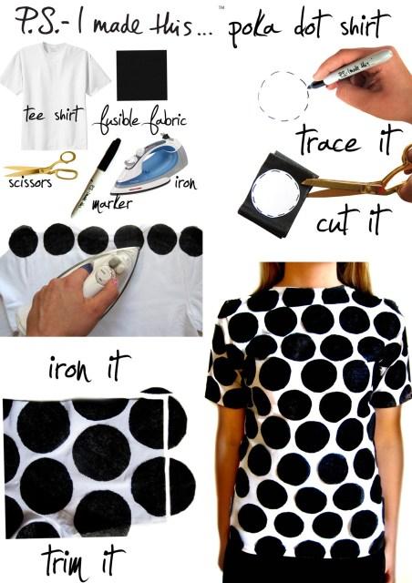 polka-dots-black-and-white-tshirt