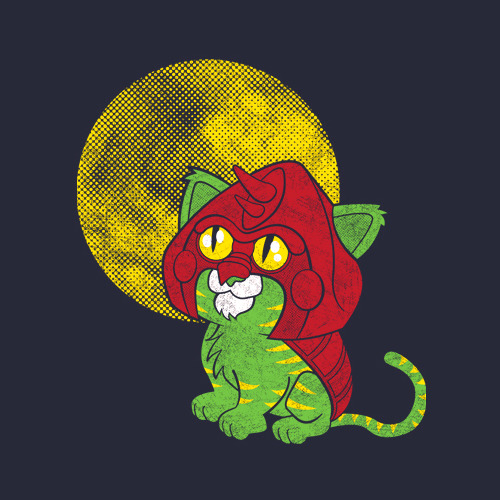 Battle Cat gets taken back to a simpler time in Matt Parson's cute new He-Man inspird shirt design. On sale today (11/2) at Shirt Punch for $10. Did you miss the sale? It is also available at RedBubble. Battle Kitty by Matt Parsons (RedBubble) (Flickr) (Twitter) Via: fanboy30