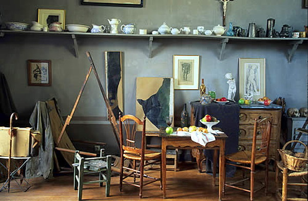 Paul Cezanne's studio