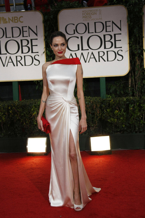 Angelina Jolie in a Versace gown #GoldenGlobes 2012<br /><br /><br /><br /><br /><br />
