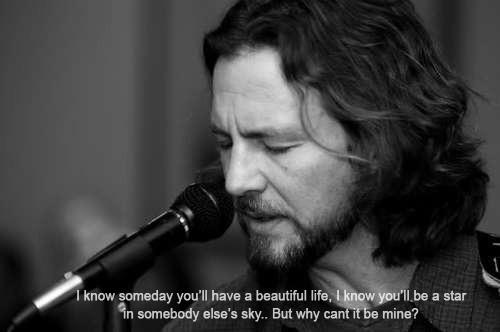 """In 2003's Benaroya Hall, Eddie Vedder most personal song, """"Black"""