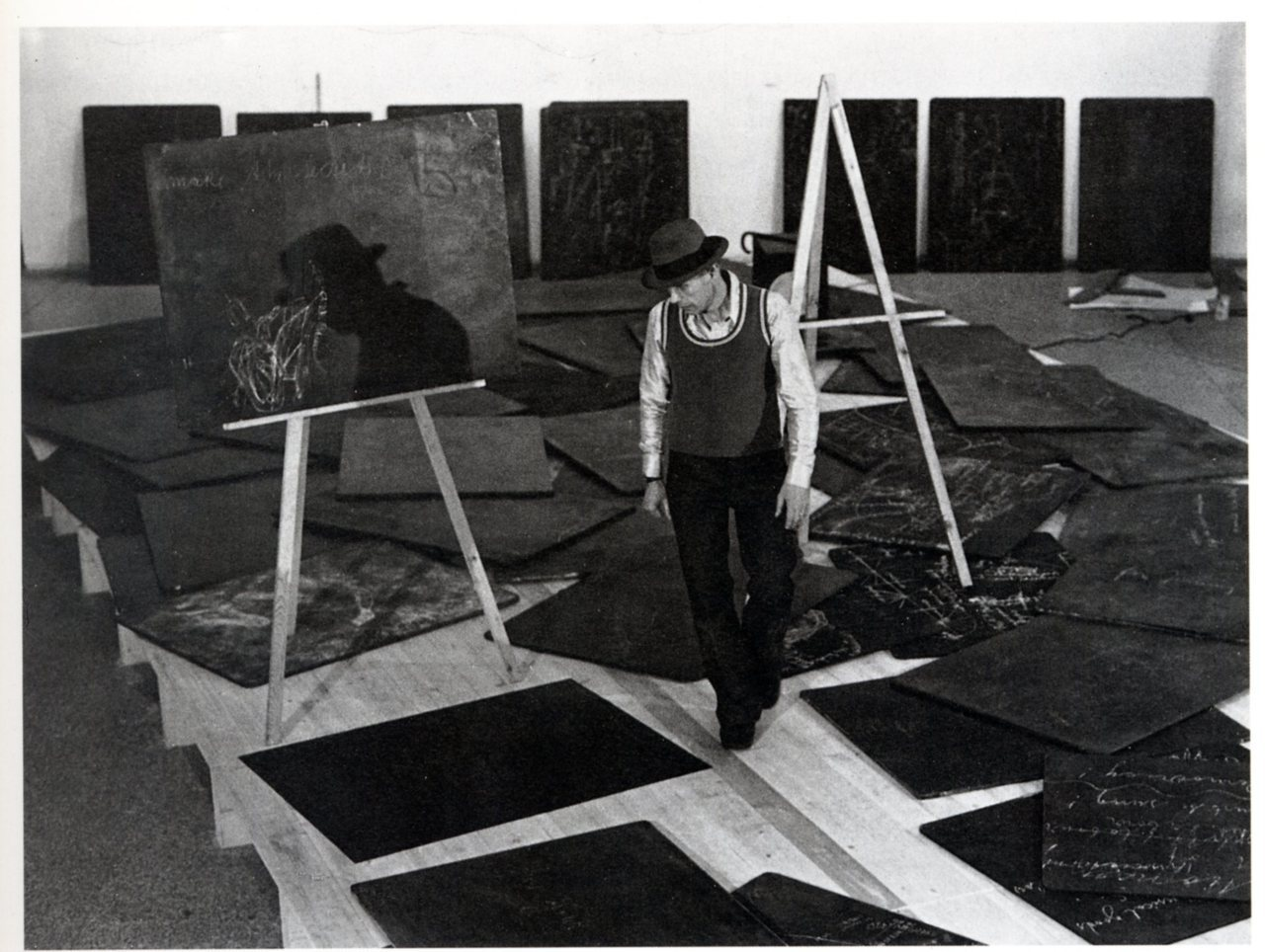 Joseph Beuys at documenta 5, 1972.