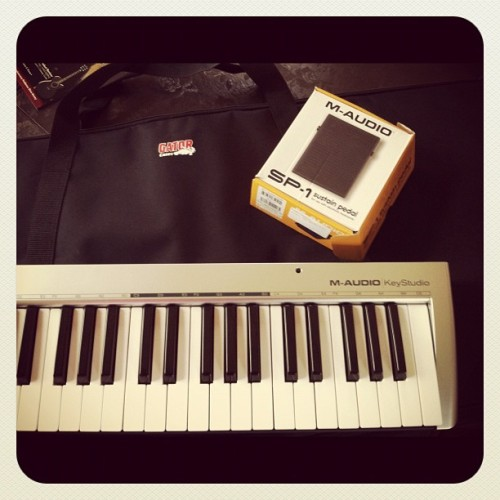 Gator Bag and foot pedal arrived. Preparing for my Songwriting Intensive with @cindywcsongdev (Taken with instagram)