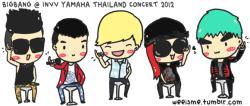 [FANART] BIGBANG @ INVV YAMAHA THAILAND CONCERT 2012