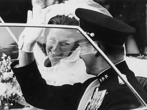 King Harald and Queen Sonja of Norway's wedding