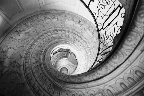 WHERE DOES THIS STAIRCASE TAKE US?<br /> IF WE FOLLOW IT DOWN,<br /> WHERE WILL IT LEAD?<br /> HOW FAR DOWN DOES IT GO?<br /> OUR FEARS PLAY A VERY IMPORTANT ROLE<br /> IN HOW WE VIEW THINGS.