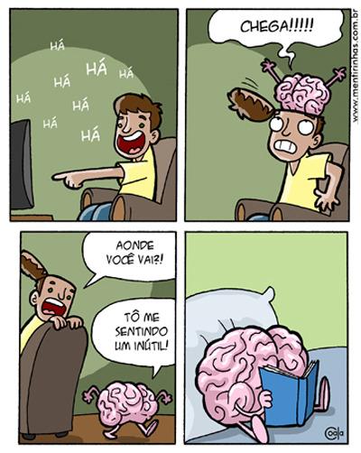 Harto de ver televisión el cerebro se va de la cabeza