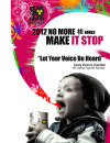 """Mami Yuasa """"let your voice be heard"""" is a clear message of this artwork. Inside of pink color reflects the world without nuclear power which has beautiful flowers and air. In this poster, a kid is mad and destroying nuclear power."""
