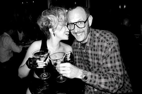 Me and Gaga at the Hotel bar.