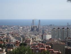 The closest I got to La Sagrada Familia.