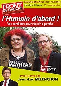 Tête de MaiLes candidats Front de Gauche sur le canton de Puteaux / Neuilly-sur-Seine / Courbevoie!Source: http://yagg.com/