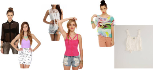 Cropped Corset #3 by thehautebunny featuring floral topsSheer button up shirt, $42Strapless top, $31Floral top, $28American Eagle outfitter, $25Cute Print Top - Sheer Top - Short Sleeve Top - $32.00, $32Sexy Fuchsia Top - Bustier Top - Tank Top - Pink Top - $30.00, $30