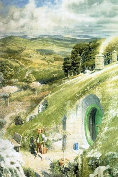 Alan Lee's rendition of Tolkien's land.