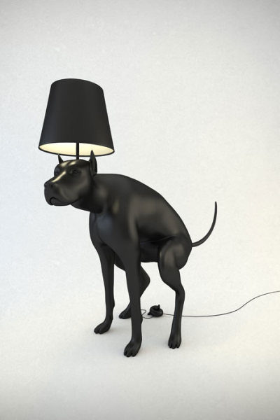 Lamp That Looks Like A Pooping Dog