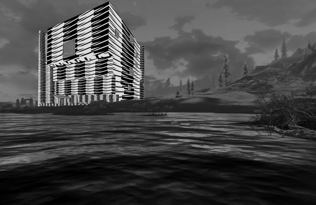 Skyrim + Brutalist Architecture = an Art
