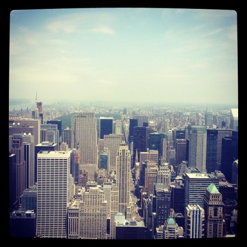 Top of the empire state building! (Taken with Instagram)