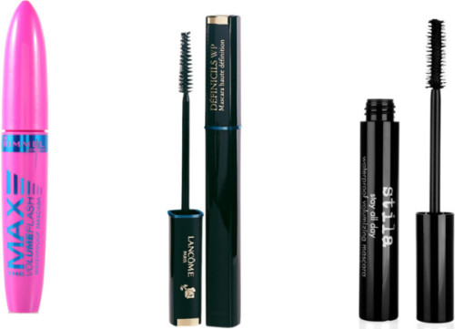 Waterproof Mascara by thehautebunny featuring a waterproof mascaraStila waterproof mascara, $22Lancôme waterproof mascara, £21Rimmel London waterproof mascara, $11