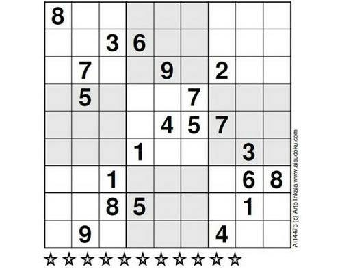 Evening brainteaser: Have a shot at the world's hardest sudoku puzzle Finnish mathematician Arto Inkala challenges you to a game of sudoku, the hardest one ever constructed.  Give up? Here's the answer. Via