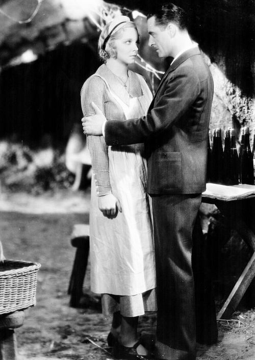 John Gilbert and Virginia Bruce in Downstairs, 1932