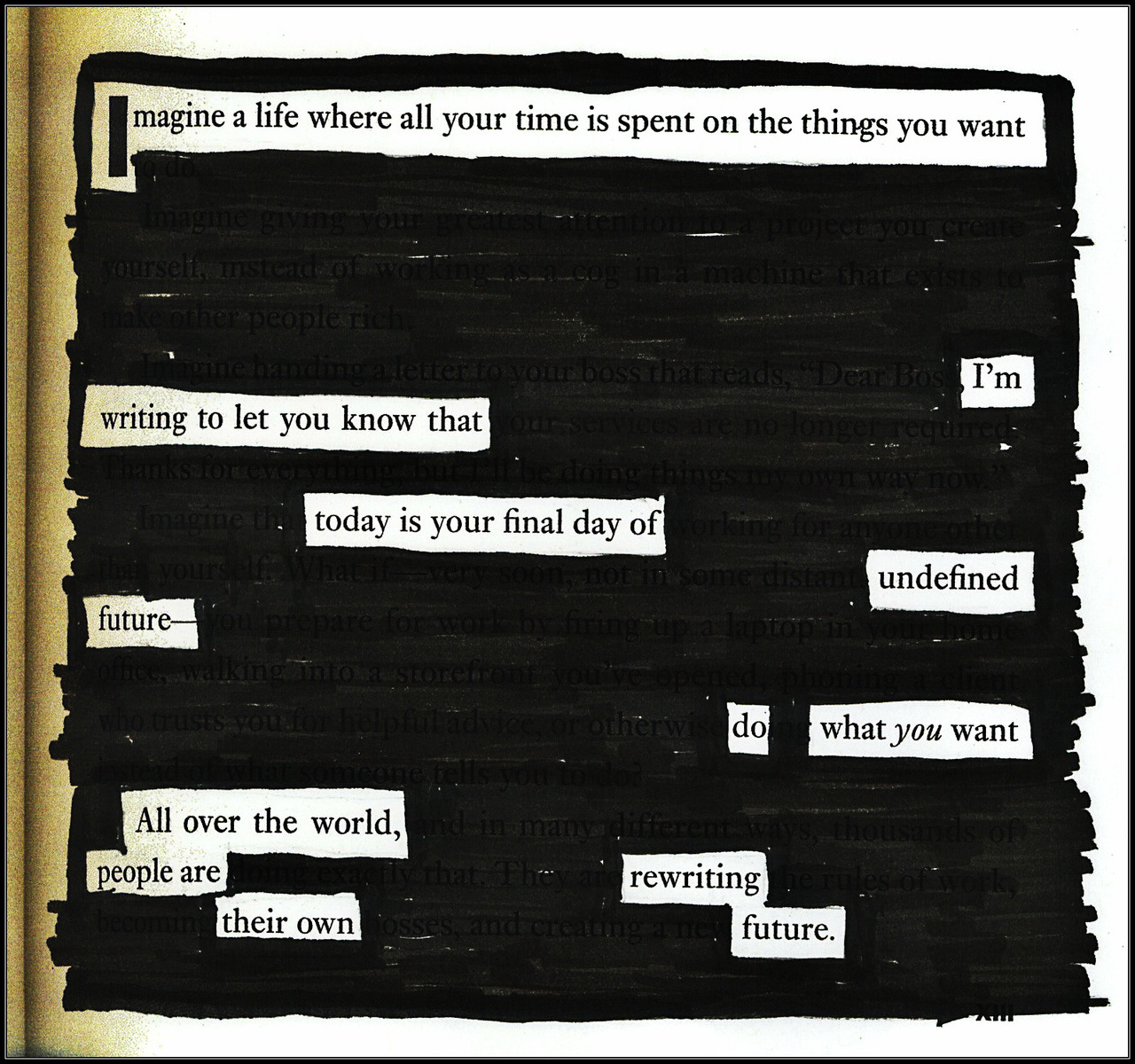 kevinharrell:Manifesto - A Blackout Poem by Kevin Harrell