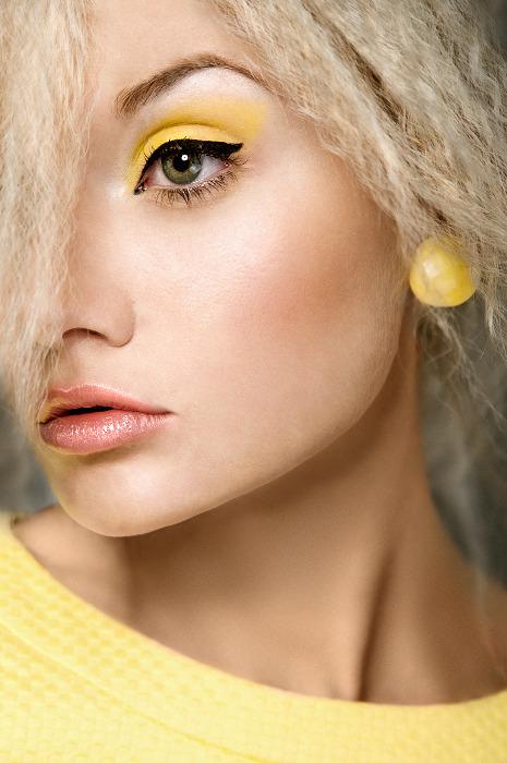 maquiagem maquilhagem amarela sombra