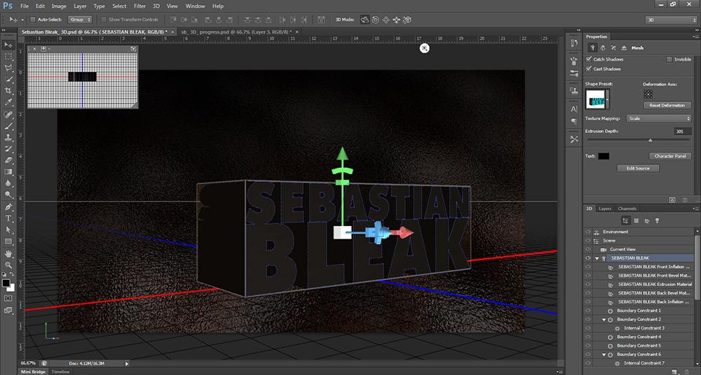 Photoshop 3D widget