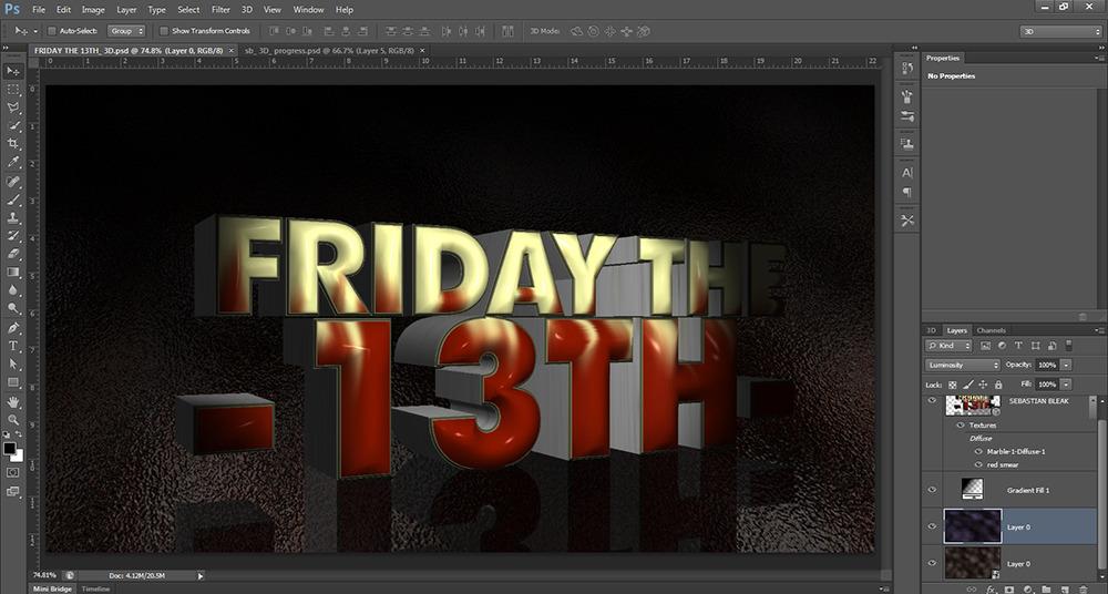 Editable 3D Text Photoshop CS6