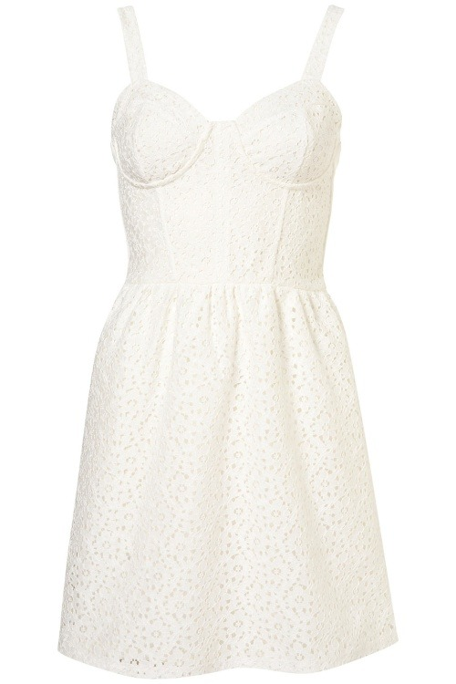 Dress like Quinn Fabray: lace corset flippy tunic dress $64 from Topshop