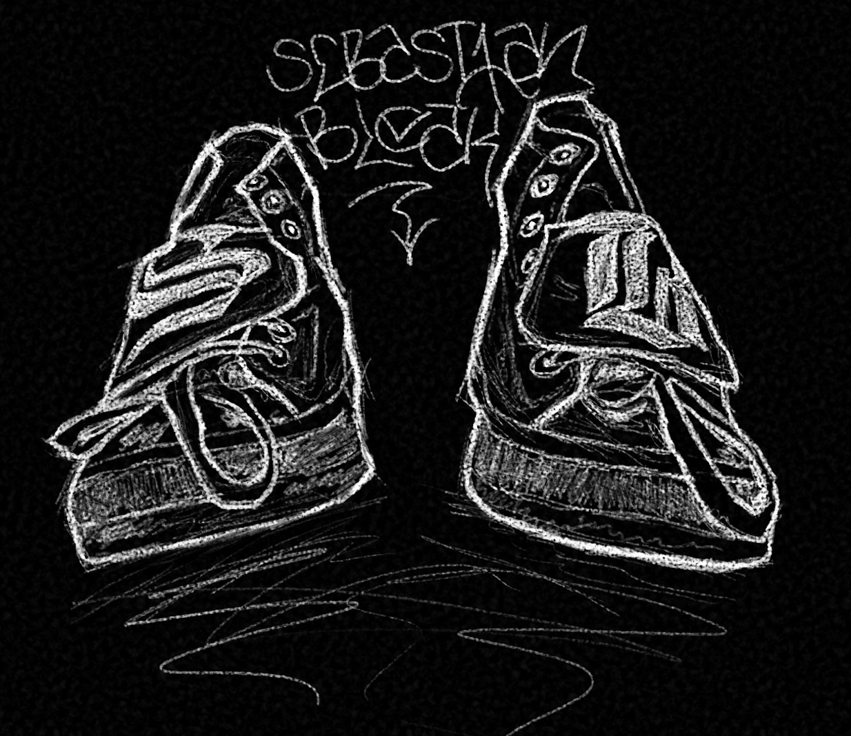 Sketch Chuck Taylor Allstars in Photoshop CS6 Erodible Tip