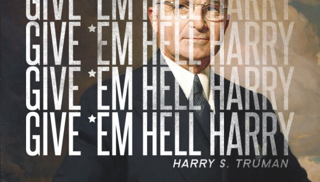 "Thirty Third President: Harry S. Truman (1945-1953)</p> <p>Harry Truman was once quoted as saying, ""I never gave anybody hell … I just told the truth, and they thought it was hell.""<br /> Harry Truman was known as a blunt, honest man. He told people exactly what he thought for better or worse. He called it like he saw it, and didn't take any ""bull"" or dishonesty from anybody. That combination of honesty and bluntness in a place like Washington, D.C. left a perception of a man you would ""give people hell.""<br />"