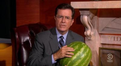 Stephen Colbert watermelon