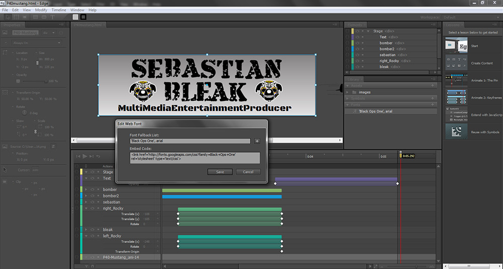 Adobe Edge Animation by Sebastian Bleak