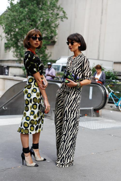 Natuka Karkashadze and Likuna Karkashadze go print mad, and they do it so well.