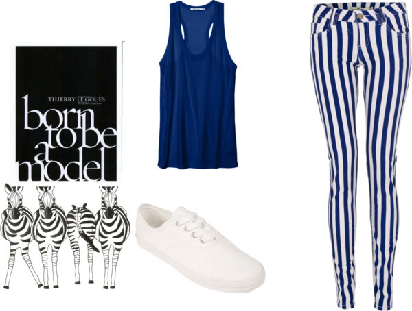 Striped Pants by natz-the-rebel featuring sleeveless shirts